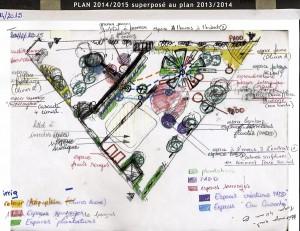 Superposition du plan 2013/2014 et du 2014/2015 !