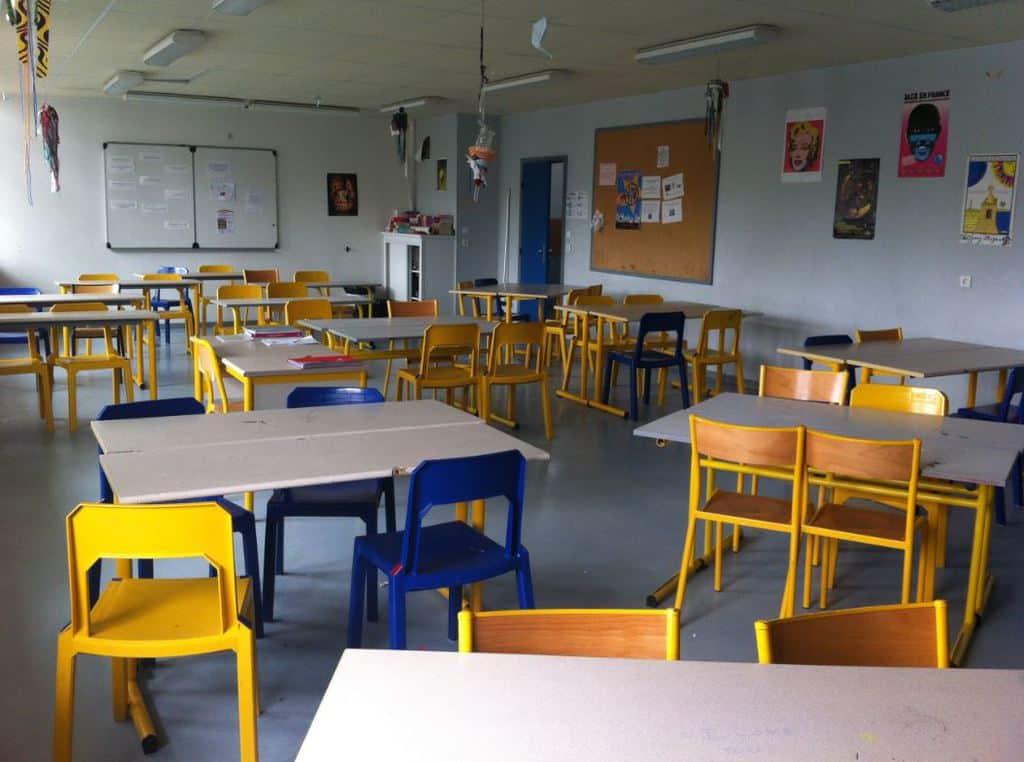Salle d'étude avec sa nouvelle disposition