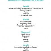 menu du 28 septembre