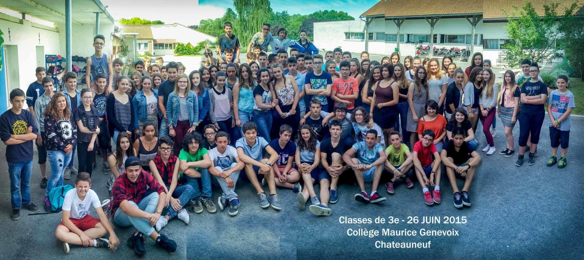 Eleves de 3e 2014 2015