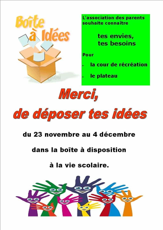 boite à idee – Collège Maurice Genevoix